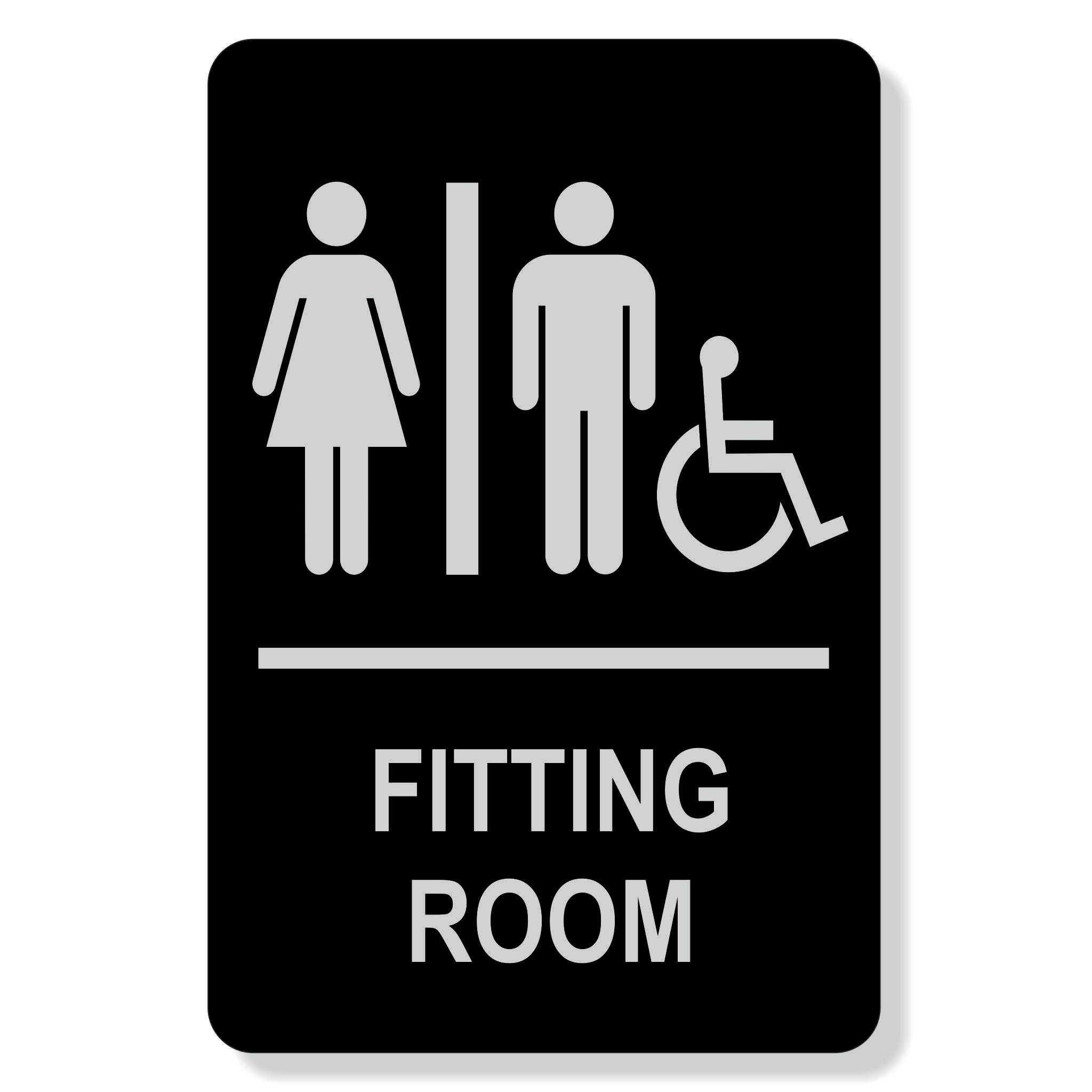 "TJX- 6"" x 9"" Fitting Room Sign"