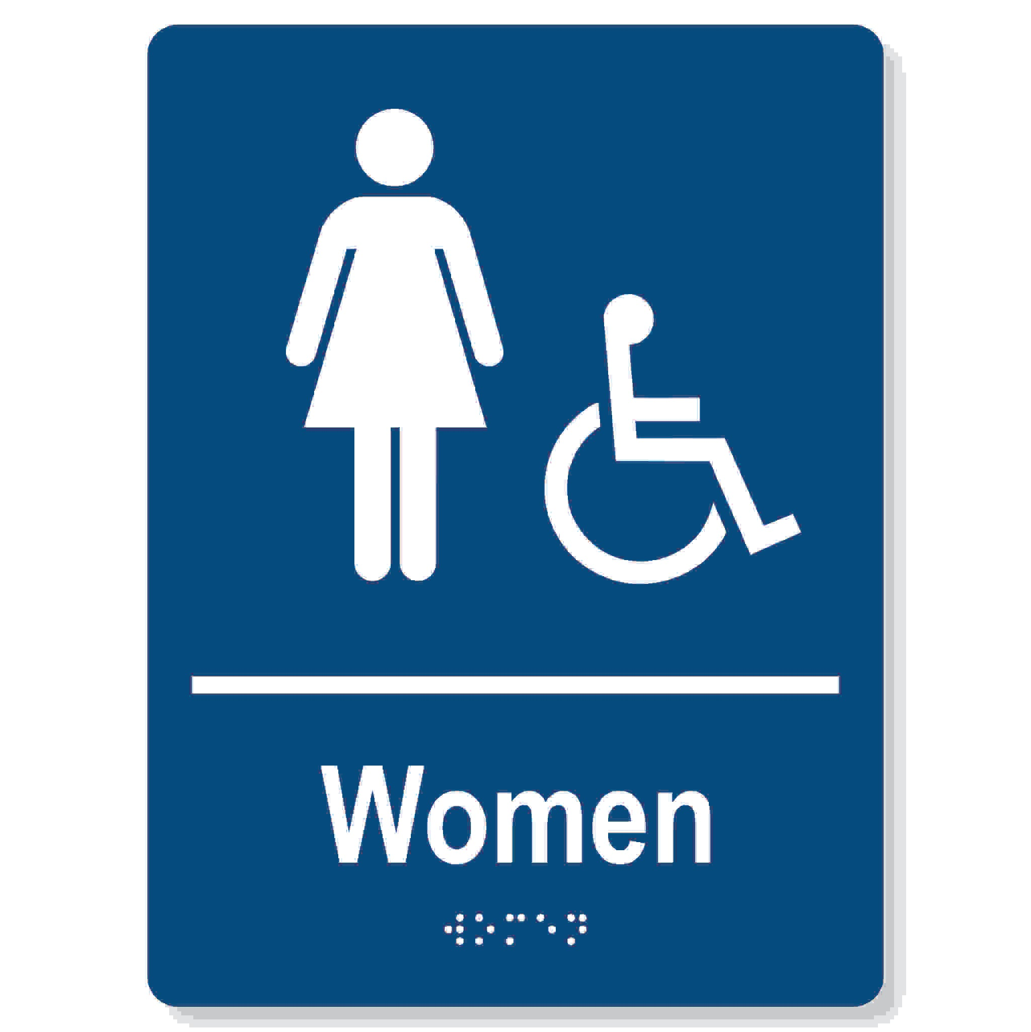 Womens accessible washroom sign