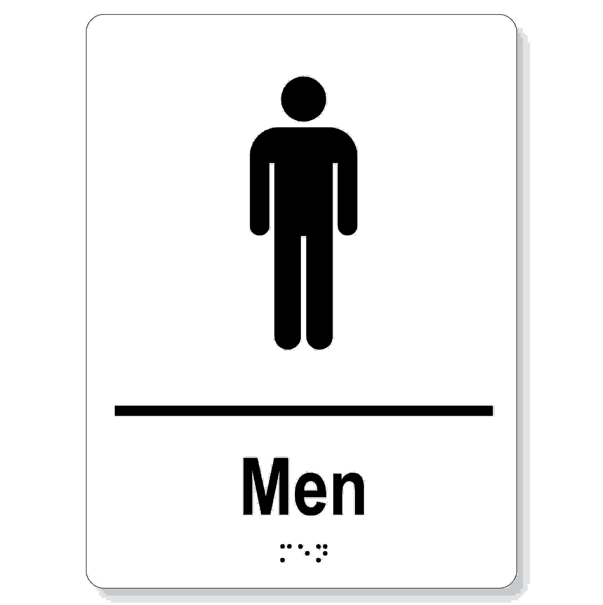 Men washroom sign