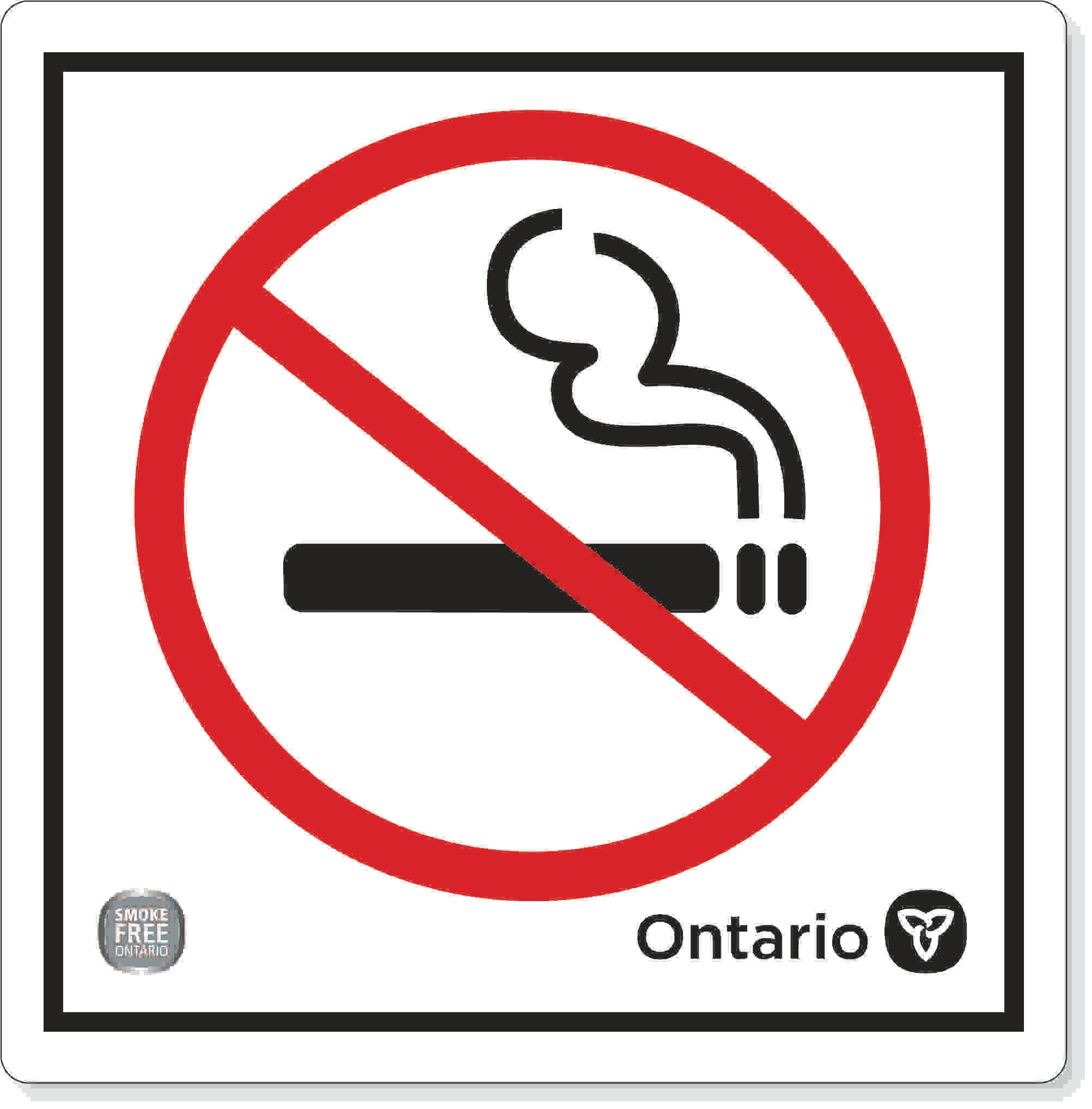 No smoking decal- Smoke free Ontario