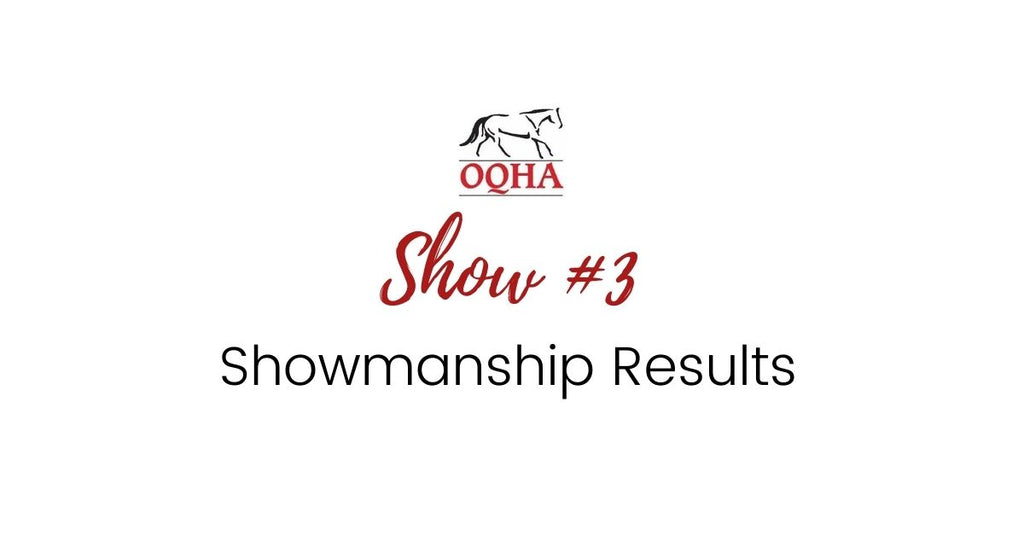 Show #3 - Showmanship Results
