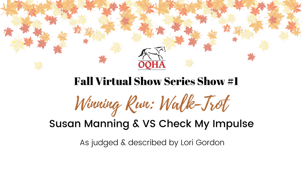 Walk-Trot Results - Fall Show #1