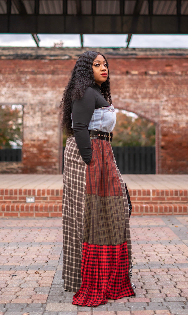 Patchwork  Maxi Skirt