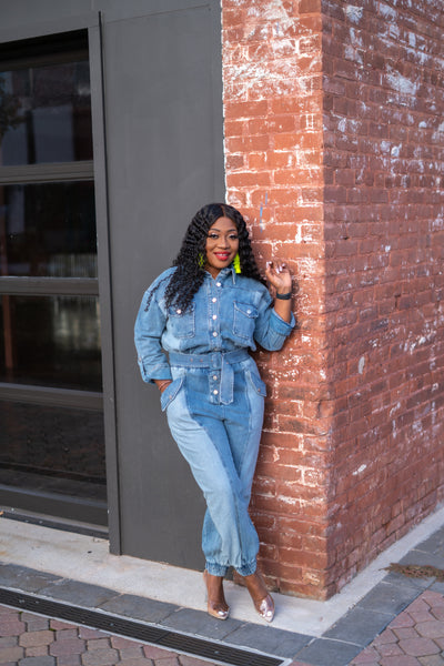 Mix Denim Jumpsuit