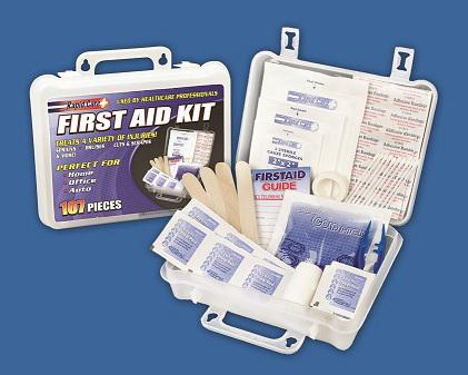 107 Piece First Aid Kit - New Blue Store