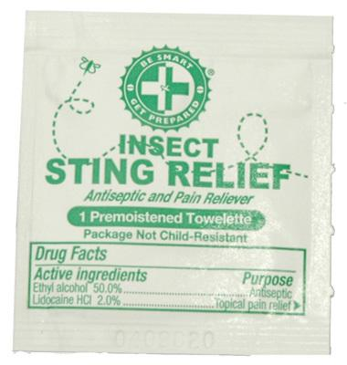 100 Sting Relief Prep Pads - New Blue Store