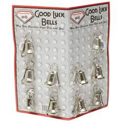 10pc Motorcycle Bells with Hangers on Display Card - New Blue Store