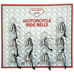 10pc Motorcycle Bells on Display Card - New Blue Store