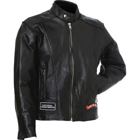 Genuine Buffalo Leather Motorcycle Jacket - New Blue Store