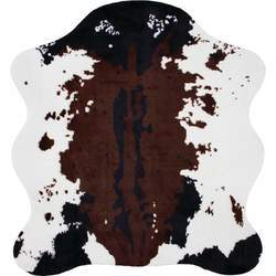 "56"" x 61"" Cow Print Rug - New Blue Store"