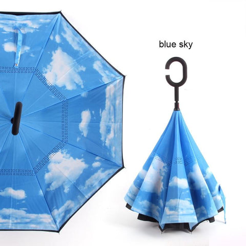 Anti UV Inverted Umbrella Reverse Windproof - New Blue Store