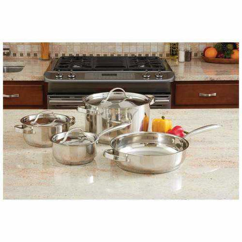 7pc Heavy Duty Stainless Steel Cookware Set - New Blue Store