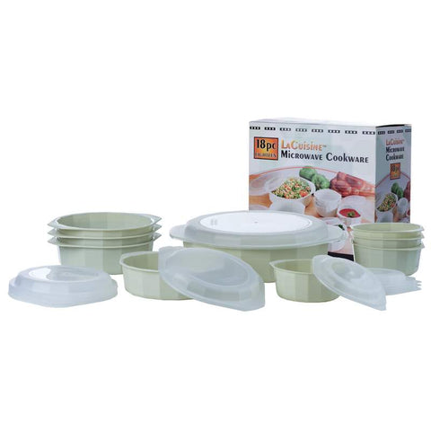 18pc Microwave Cookware Set - New Blue Store