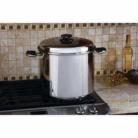 24qt 12-Element ''Waterless'' Stockpot with Deep stainless steel stockpot Basket - New Blue Store