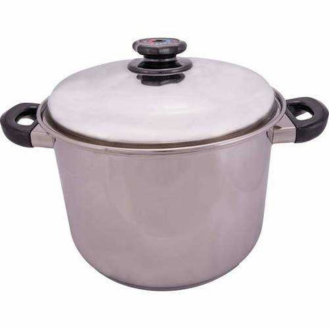 12qt 12-Element T304 Stainless Steel Stockpot - New Blue Store