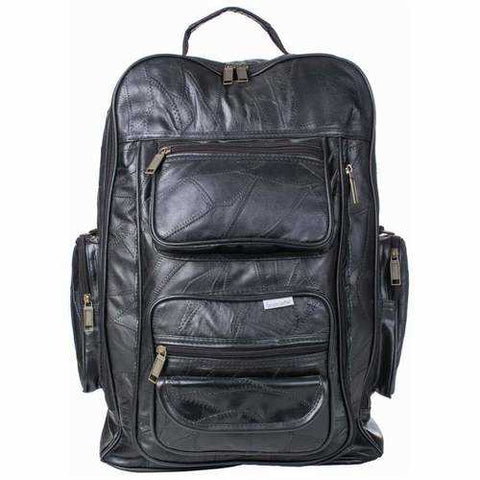 The Embassy Italian Stone Design Leather backpack trolley - New Blue Store