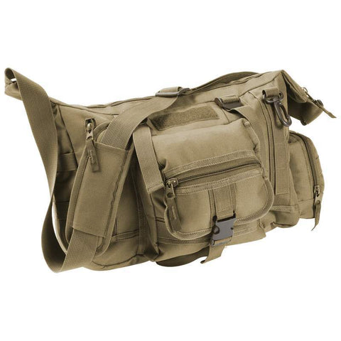 "Olive Drab Green 15"" Tactical Style canvas messenger bag - New Blue Store"