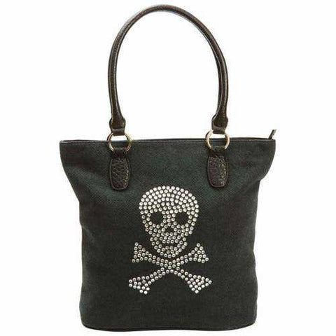 Handbag with Rhinestone Skull - New Blue Store