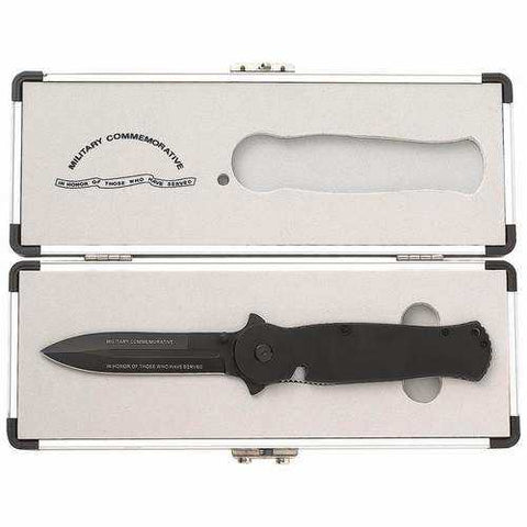 Commemorative Military Liner Lock Knife - New Blue Store