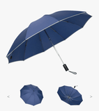 LED Inverted Umbrella with Reflective Stripe - New Blue Store