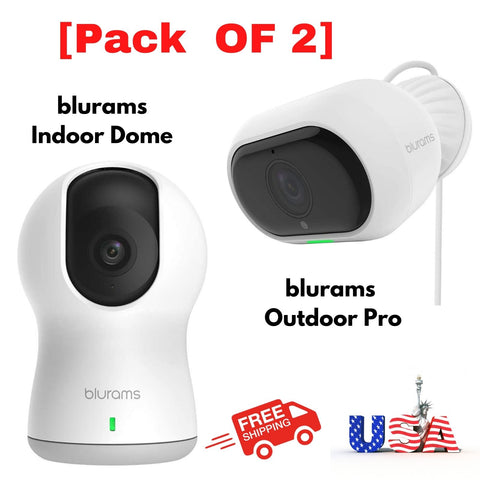 Wireless Security Camera 1080p Full Hd Security Smart Home Security Pack of 2cam