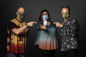Mask Shot-Jeff Coffin, Jen Hartswick, & Kris Myers