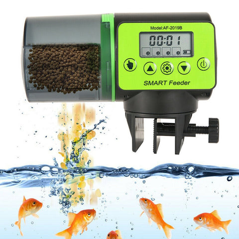 LCD Electronic Automatic Fish Feeder Dispenser