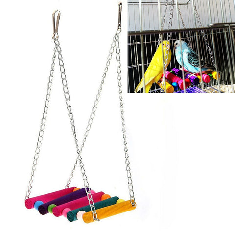 Bird Swing Toys, Parakeet Perches Hanging Cage Toy