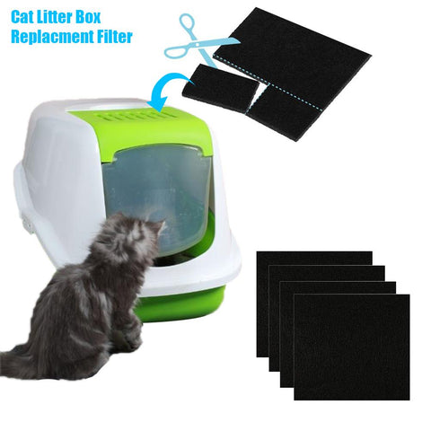 4/6Pcs Pet Cat Litter Box Filter Kitten Pad