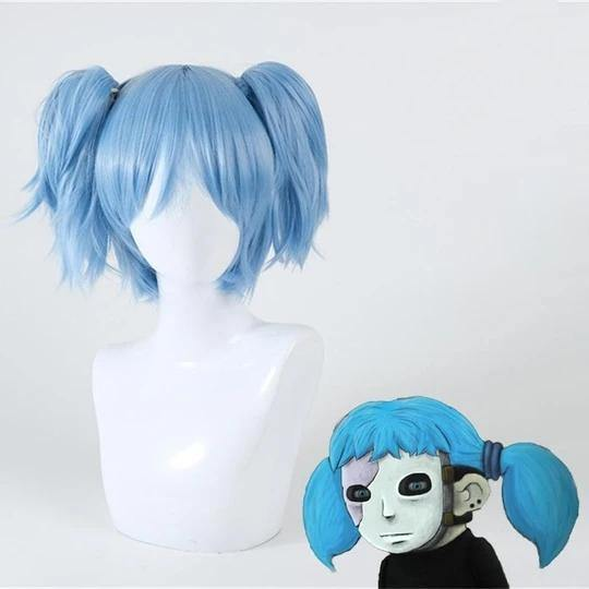 Sally Face Blue Cosplay Wig