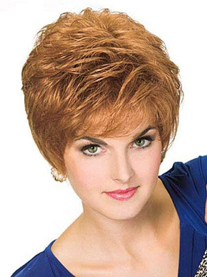 Straight Boycuts Blonde Short Heat Friendly Synthetic Hair Wig