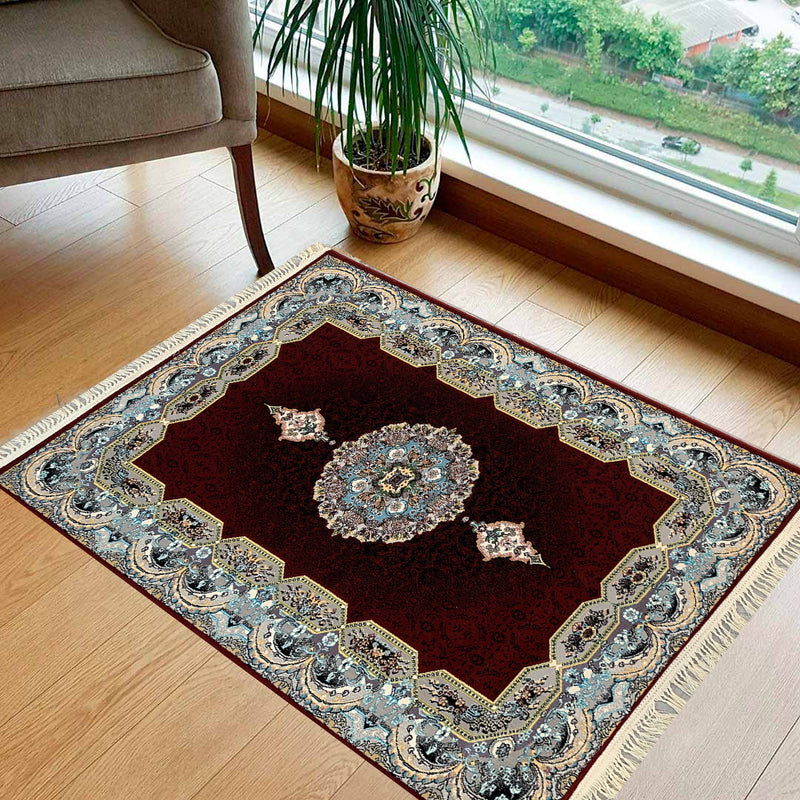 Haliday Red Contemporary Persian Rug Square