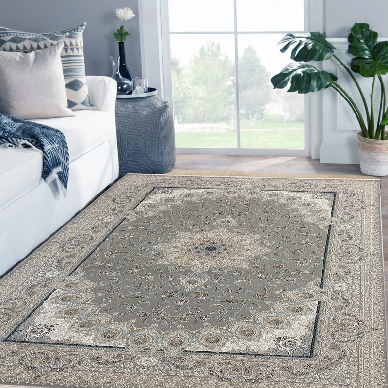 Tida Grey Contemporary Persian Rug
