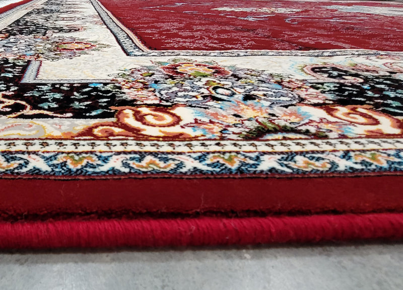 Hiva Red Contemporary Rug