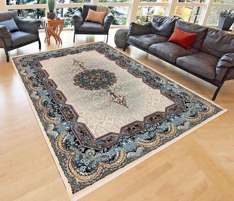 Haliday Cream Contemporary Persian Rug
