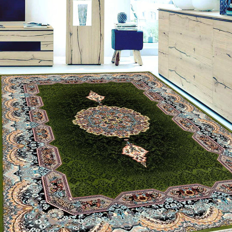 Haliday Green Contemporary Persian Rug