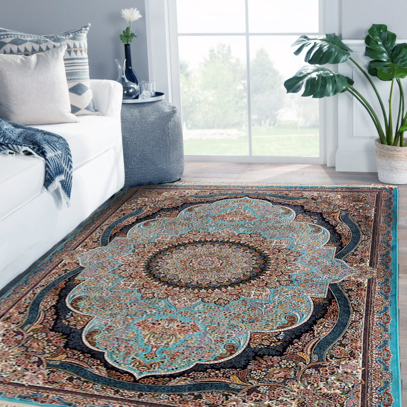 Parham Blue Traditional Rug