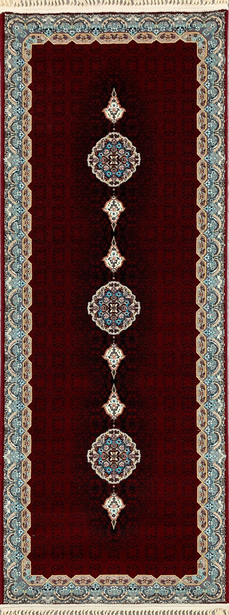 Haliday Red Contemporary Persian Rug Hallway Runner
