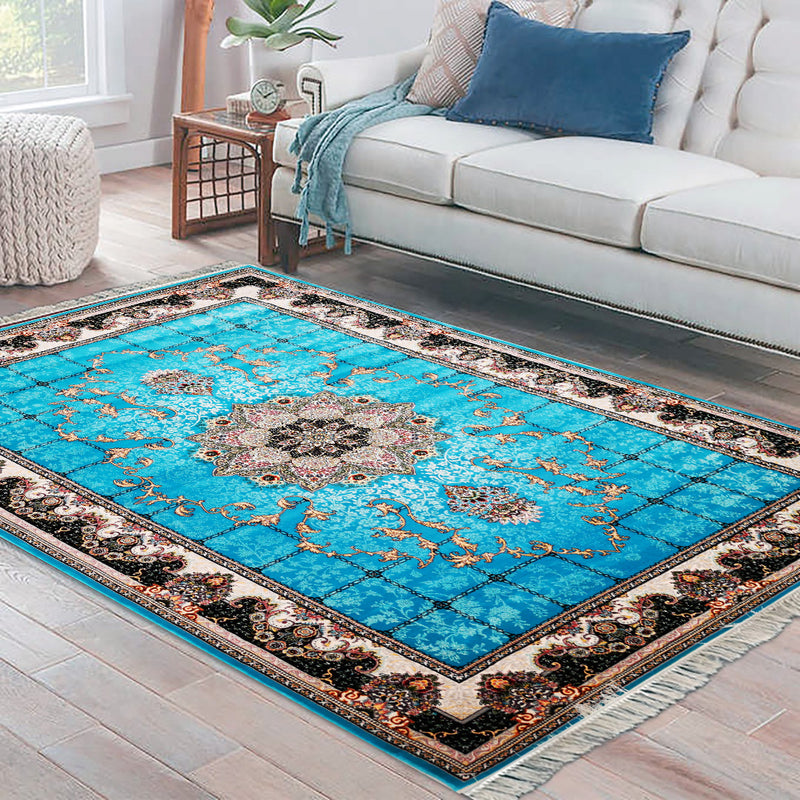 Hiva Blue Contemporary Rug