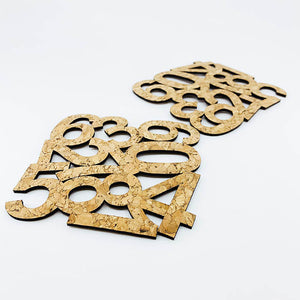 Creative Cork PU Coaster  (Number Pattern)