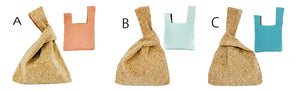 Eco-friendly Cork fabric Handy Bag (Three colors)