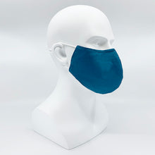 Load image into Gallery viewer, Hybrid fabric mask - Cotton + Silk + Bamboo fabric - Large/Men size 255mm x 166mm