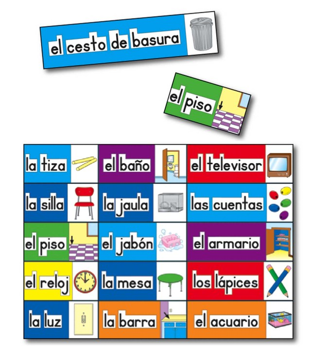 Print Rich Classroom Labels: Spanish