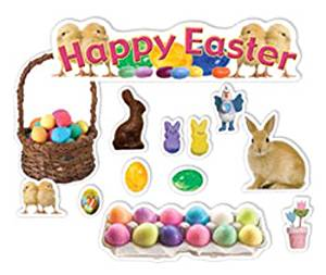 Happy Easter Mini Bulletin Board Set