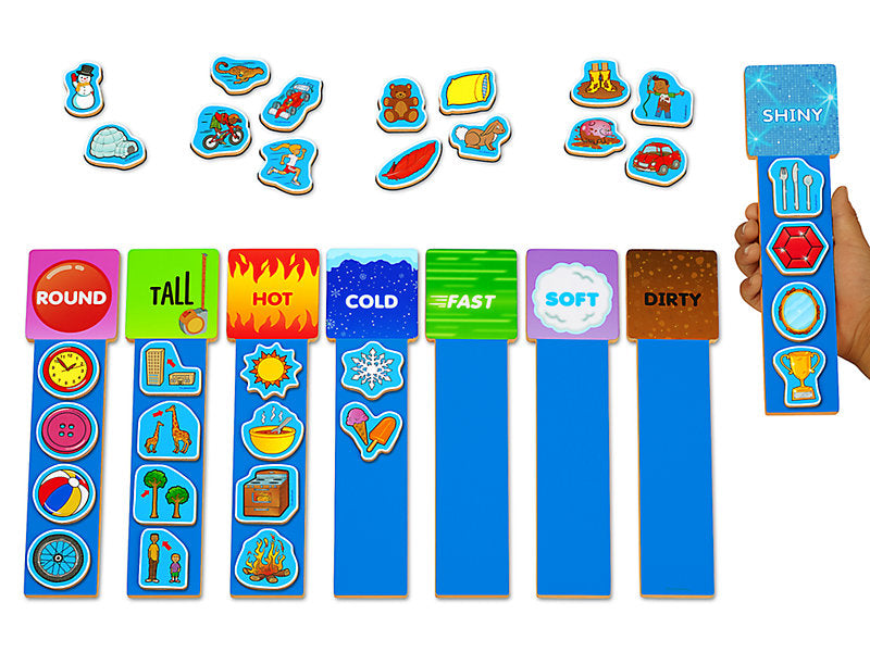 Magnetic Language Learning Rods Descriptive Words