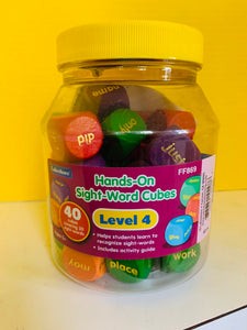 Sight Word Cubes 4