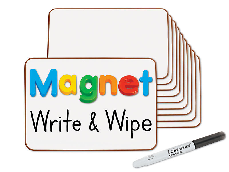 Magnetic Write and Wipe Mini Boards Set of 10