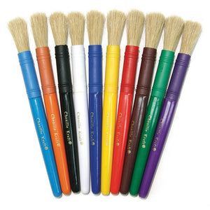 Plastic Handle Colossal Brushes 10 pack