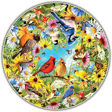 Load image into Gallery viewer, Backyard Birds Round Puzzle 500 pieces
