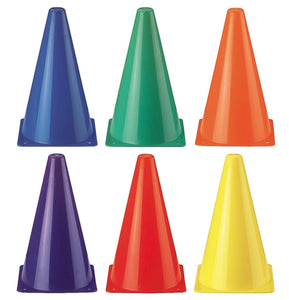 Rainbow Cones Set of 6